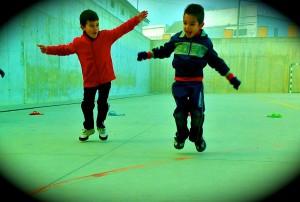 los saltos en 1º y 2º de primaria en educación física
