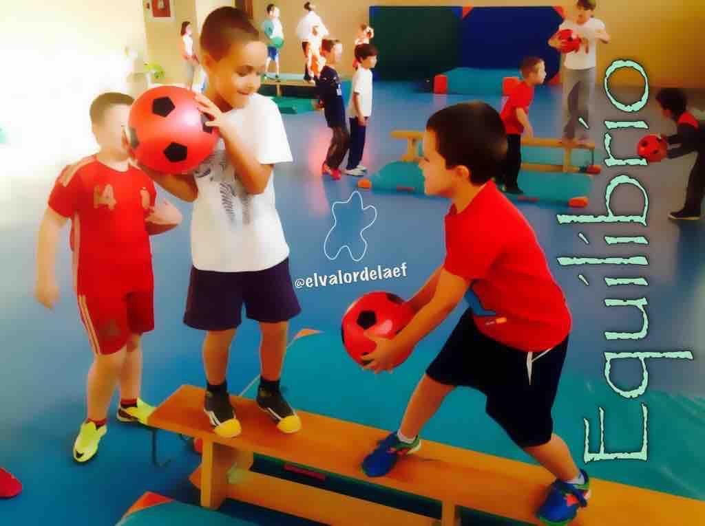 Equilibrio en 2º de primaria y su contribución al esquema corporal