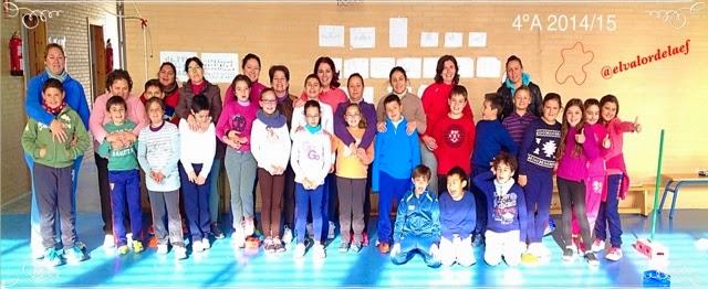 foto 4ºA discapacidad y familia en educación física: educación física en familia