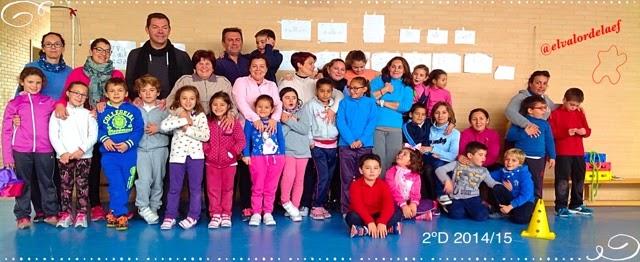 foto 2ºD discapacidad y familia en educación física: educación física en familia
