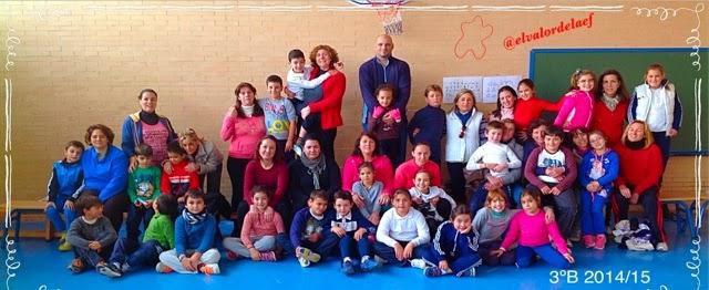 foto 3ºB discapacidad y familia en educación física: educación física en familia
