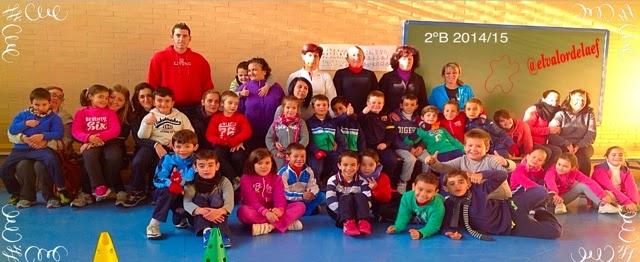 foto 2ºB discapacidad y familia en educación física: educación física en familia