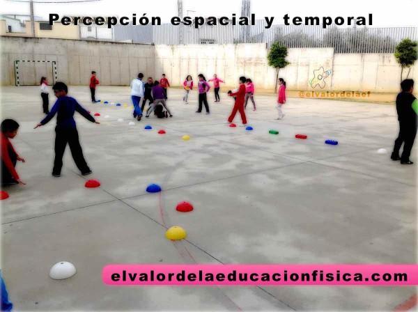 Percepcion espacial y temporal en educación física