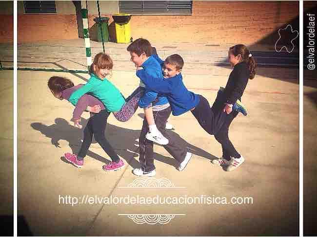 Creatividad y desplazamientos en educación física