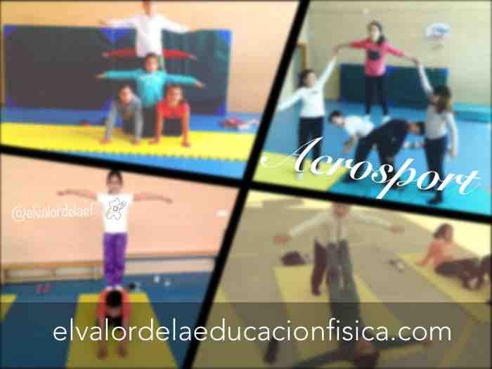 acrosport en educacion fisica en primaria