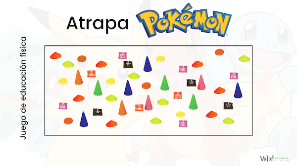 distribución de los Pokemon en el juego de lanzamiento de educación física