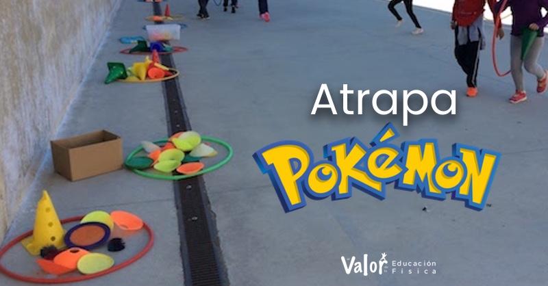 juego de lanzamiento en educación física atrapa pokemon