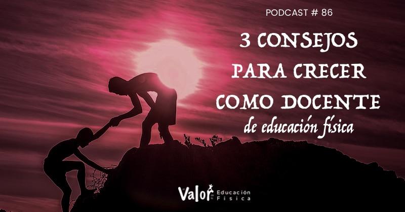 Podcast sobre consejos para crecer como docente de educación física