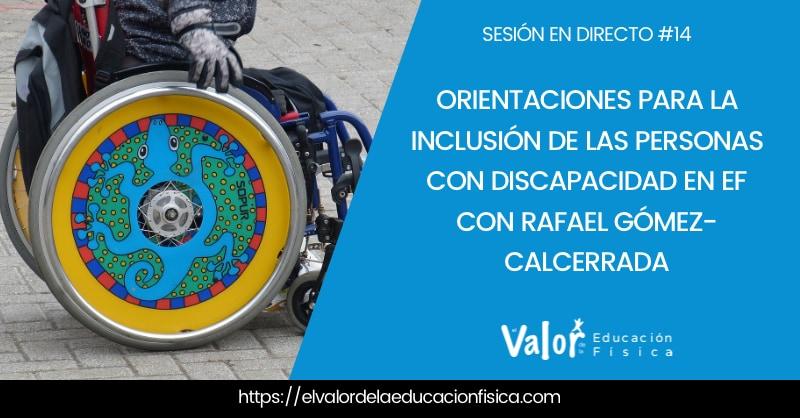 inclusión en educación física con personas con discapacidad.