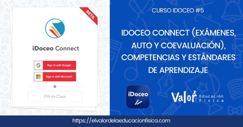 iDoceo connect, exámenes y rúbricas de autoevaluación y coevaluación, competencias y estándares.
