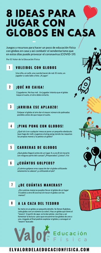 10 Ideas para trabajar la EF con globos desde casa | El Valor de ...