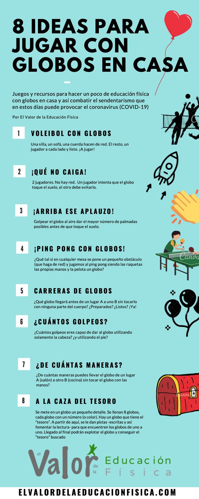 10 Ideas Para Trabajar La Ef Con Globos Desde Casa El Valor De La Educación Física