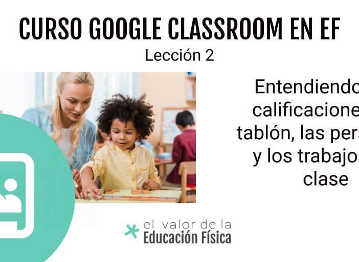interfaz de una clase en Google Classroom